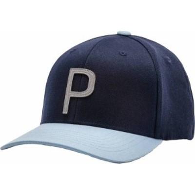 プーマ メンズ 帽子 アクセサリー PUMA Men's Throwback P 110 Snapback Golf Hat Blue Bell