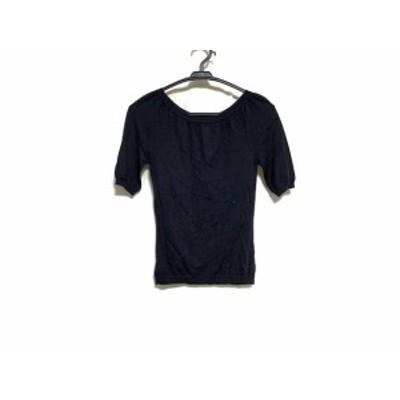 トッカ TOCCA 半袖セーター サイズS レディース 美品 - 黒【中古】20210306