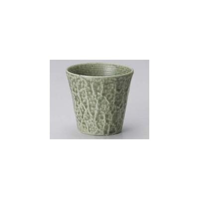 和食器 カ273-307 グリーン伊良保焼酎カップ