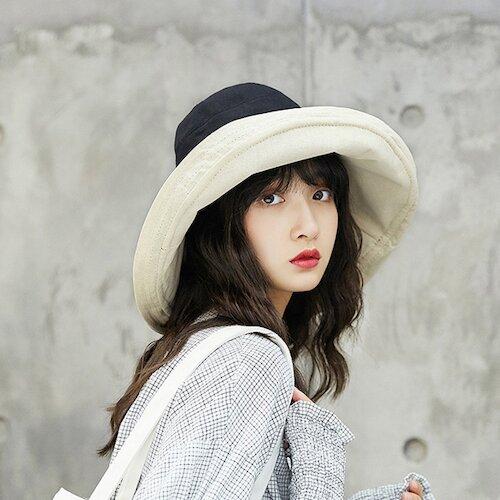 日本 BEAUTYJAPAN 抗UV可塑型雙面可戴棉質大寬檐防曬帽YF0194(3色)