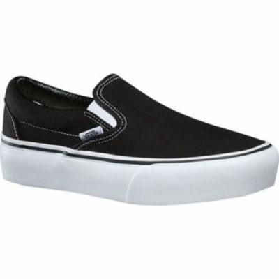 ヴァンズ スリッポン・フラット Classic Slip-On Platform Sneaker Black Canvas/Leather