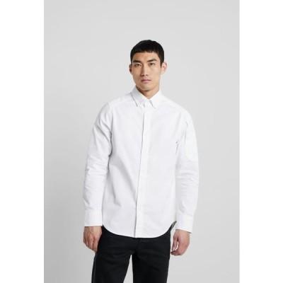 ジースター メンズ シャツ STALT STRAIGHT BUTTON DOWN POCKET - Shirt - white