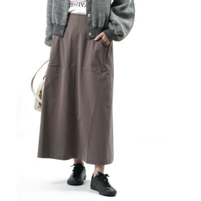 ププラ Aラインスカート ロングスカート PUPULA 2020秋冬新作 レディース 国内正規品