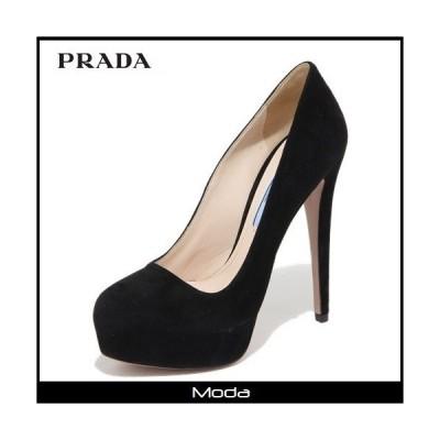 PRADA プラダ ブラックプレーンパンプス