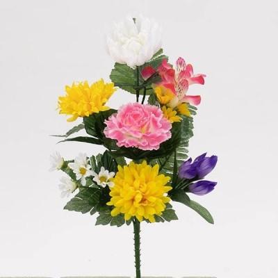 《 造花 仏花 》◆とりよせ品◆花びし 仏花ブッシュ ミックス
