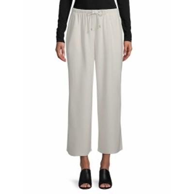 アイリーンフィッシャー レディース パンツ Cropped Wide-Leg Silk Noil Pants