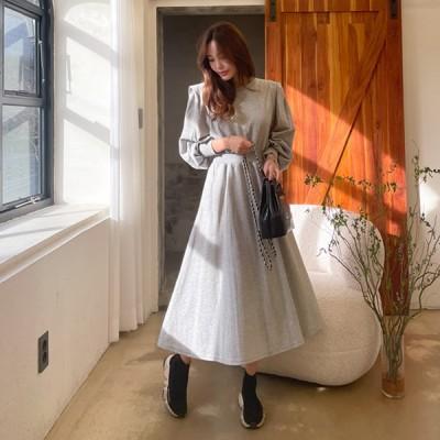 【 everynana 】トレンディーなトレーナーワンピース!  カジュアル ルーズフィット サイドのポケット 韓国ファッション 韓国ワンピース  新作ワンピース かわいいワンピース 2567256