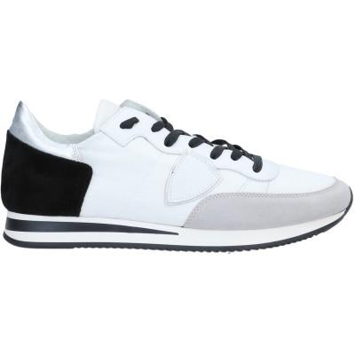 フィリップ モデル PHILIPPE MODEL スニーカー&テニスシューズ(ローカット) ホワイト 39 革 / 紡績繊維 スニーカー&テニスシュ