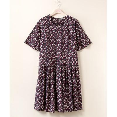【大きいサイズ】 bitter syrup  花柄プリントワンピース ワンピース, plus size dress