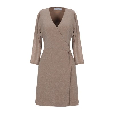 カオス KAOS ミニワンピース&ドレス キャメル 40 レーヨン 70% / ポリエステル 13% / ナイロン 11% / ポリウレタン 6%