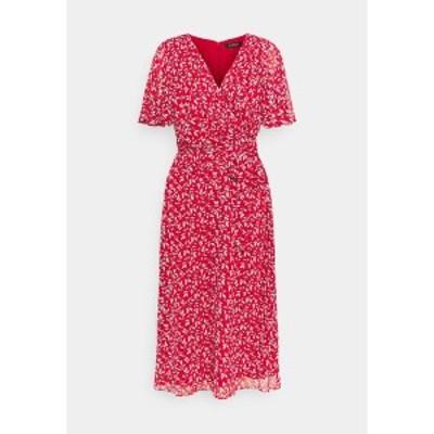 ラルフローレン レディース ワンピース トップス PRINTED GEORGETTE DRESS - Day dress - lipstick red lipstick red