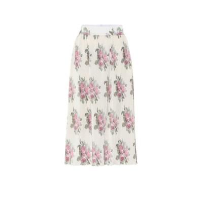 パコラバンヌ Paco Rabanne レディース ひざ丈スカート スカート Floral midi skirt Light Beige Bouquet