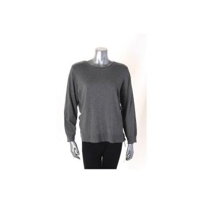 アルファーニ セーター ニット Alfani グレー Solid 長袖 クルーネック セーター サイズ M 49 LAFO