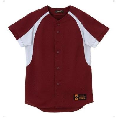 ジュニア ユニフォーム コンビネーションシャツ  DESCENTE デサント ヤキュウソフトハンソデTシャツ (JDB48M-ENG)