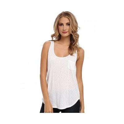 LAmade エルエーメイド レディース 女性用 ファッション トップス シャツ Boyfriend Tank w/ Pocket - White