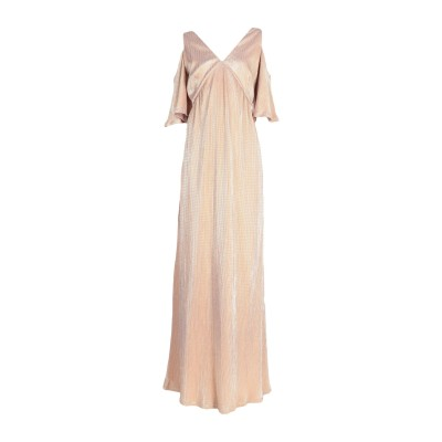 INTROPIA ロングワンピース&ドレス ゴールド 36 ポリエステル 100% ロングワンピース&ドレス