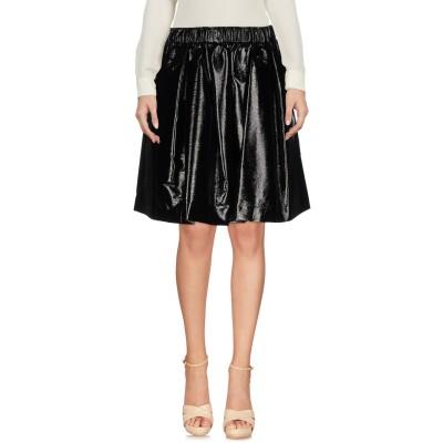 エムエスジーエム MSGM ひざ丈スカート ブラック 42 ポリエステル 75% / コットン 15% / レーヨン 10% ひざ丈スカート