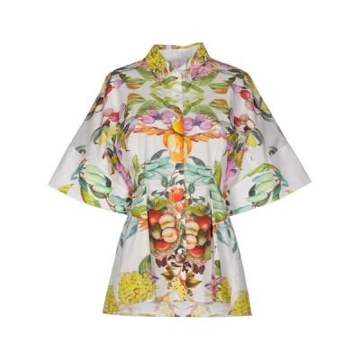 STELLA JEAN ステラ ジーン 柄入りシャツ&ブラウス ファッション  レディースファッション  トップス  シャツ、ブラウス  長袖 ホワイト