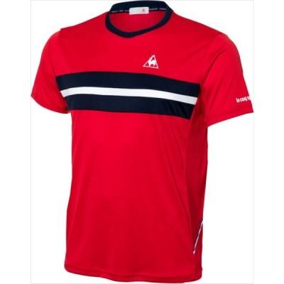 le coq sportif (ルコック スポルティフ) メンズ テニスウェア 半袖シャツ RED QTULJA31ZZ 1802 メンス 紳士 男性