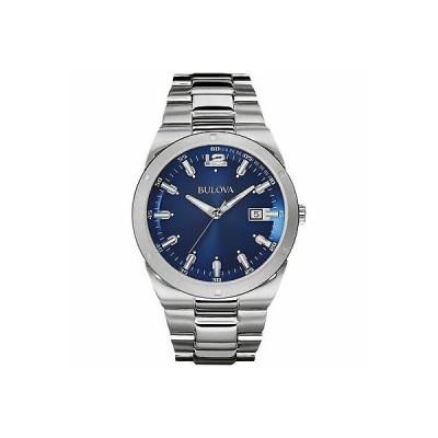 おしゃれ 個性的 高品質 腕時計 ブローバ メンズ Bulova 96B220 Men's Blue Dial Classic Wristwatch
