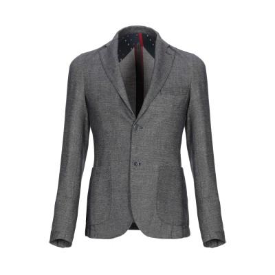 AGORAIO テーラードジャケット 鉛色 44 ポリエステル 84% / レーヨン 16% テーラードジャケット