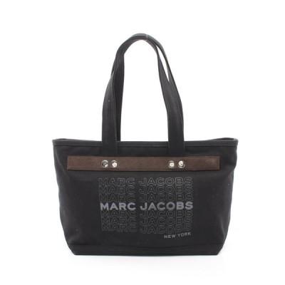 マークジェイコブス MARC JACOBS ユニバーシティ トートバッグ キャンバス スエード ブラック ダークブラウン グレー ロゴ M0016405 レディース 中古