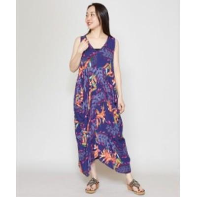 チャイハネ 公式 [ジャングフラワンピース] エスニック アジアン  ファッション ワンピースIAC-1233