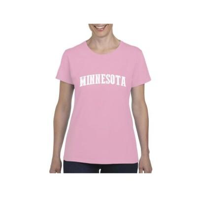 レディース 衣類 トップス Womens MN Map Minneapolis Flag Short Sleeve T-Shirt グラフィックティー