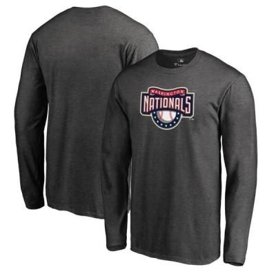 ユニセックス スポーツリーグ メジャーリーグ Washington Nationals Fanatics Branded Cooperstown Collection Huntington Long Sleeve T-
