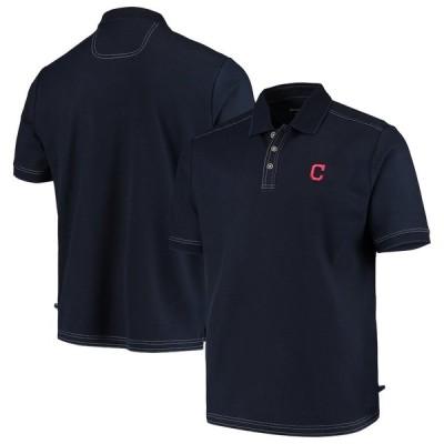 """トミーバハマ メンズ ポロシャツ """"Cleveland Indians"""" Tommy Bahama Emfielder 2.0 Polo - Navy"""