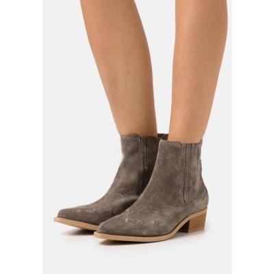 ビアンコ レディース 靴 シューズ BIADELORA WESTERN CHELSEA BOOT - Cowboy/biker ankle boot - warm grey