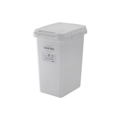 サビロ 連結ワンハンドペール45J ホワイト 白 45L 持ち手付き フタ付き ゴミ箱 ダストボックス ペールBOX インテリア