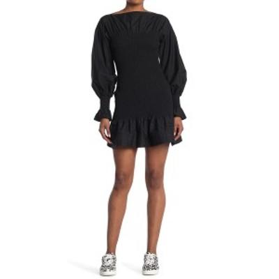 デレクラム レディース ワンピース トップス Dua Smocked Puff Sleeve Dress BLACK