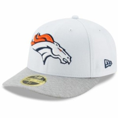New Era ニュー エラ スポーツ用品  New Era Denver Broncos White/Heathered Gray Tech Sweep Low Profile 59FIFTY Fitted H