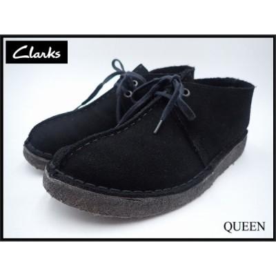 Clarks トレック スウェードシューズ・23cm★クラークス/英国製 イングランド製/黒/21*2*1-3