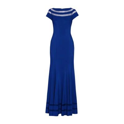 MIKAEL AGHAL ロングワンピース&ドレス ブライトブルー 2 97% ポリエステル 3% ポリウレタン ロングワンピース&ドレス