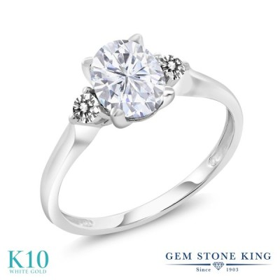 Forever One GHI モアサナイト 指輪 レディース リング 10金 ホワイトゴールド ブランド