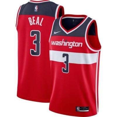 ナイキ メンズ シャツ トップス Nike Men's Washington Wizards Bradley Beal #3 Red Dri-FIT Icon Jersey