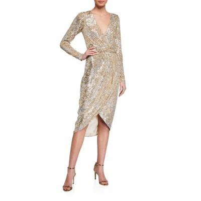 パーカー ブラック レディース ワンピース トップス Opal Sequined Dress