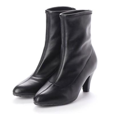 【EVOL】ILIMA 6.5cmブーツ IN7970 (ブラック)