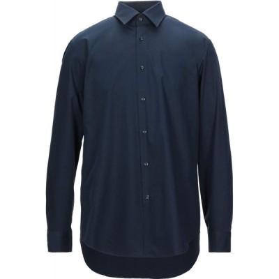 ヒューゴ ボス HUGO HUGO BOSS メンズ シャツ トップス Solid Color Shirt Dark blue