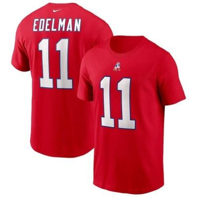 """ナイキ メンズ Tシャツ Julian Edelman """"New England Patriots"""" Nike Name & Number T-Shirt - Red"""