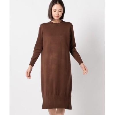MEW'S REFINED CLOTHES / クルーネックニットワンピース WOMEN ワンピース > ワンピース
