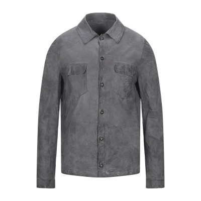 サルバトーレ・サントロ SALVATORE SANTORO シャツ 鉛色 52 羊類革 100% シャツ