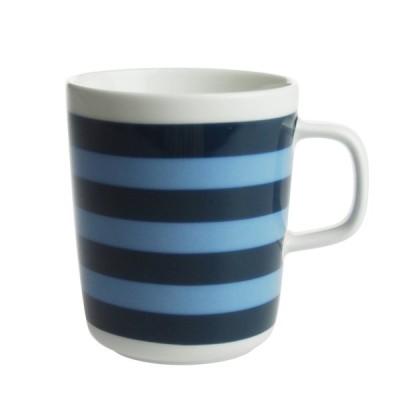 マリメッコ タサライタ マグカップ 250ml ダークブルー×ライトブルー