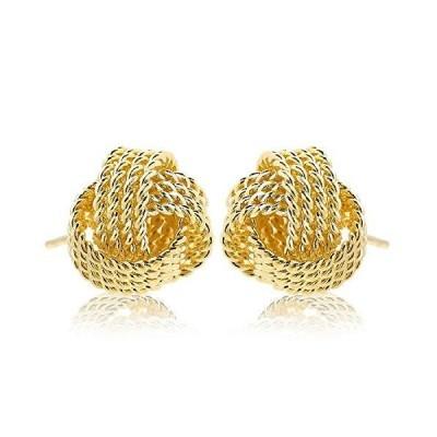 ナオットジュエリー 18K ゴールドピアス Twist Gold Pierce (直径 1cm) naotjewelry レディース スタッ