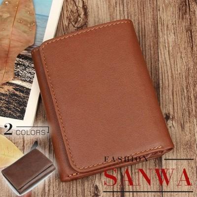 三つ折り財布 メンズ 財布 本革 サイフ ウォレット wallet 大収納 大容量 多機能 カード入れ 定番 ビジネス カジュアル