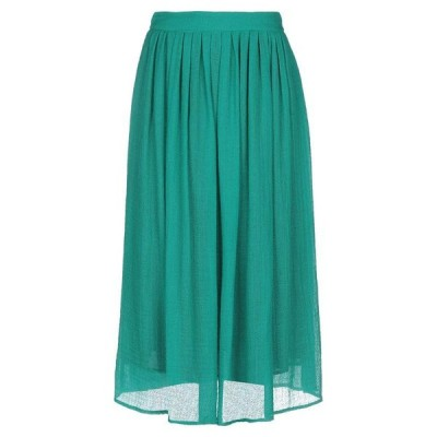 MOMONI 七分丈スカート  レディースファッション  ボトムス  スカート  ロング、マキシ丈スカート グリーン