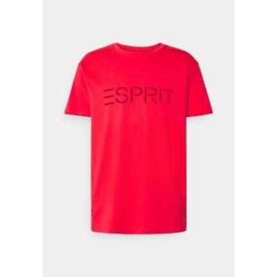 エスプリ メンズ Tシャツ トップス ICON - Print T-shirt - coral red coral red