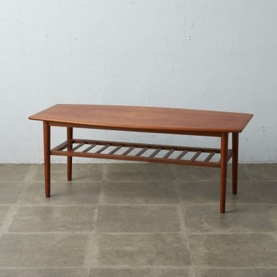 IZ48154C★英国 コーヒーテーブル センターテーブル ラダー 梯子 ミッドセンチュリー イギリス ヴィンテージ チーク ローテーブル 木製